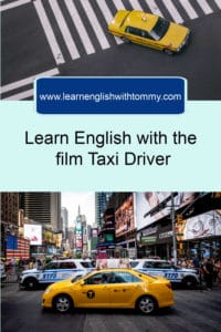 Learn English with Taxi driver - Pinterest image
