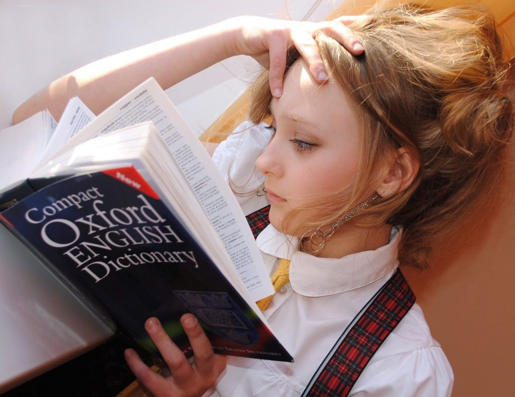 girl, english, dictionary